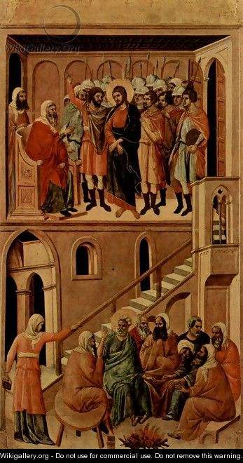 Christ before Annas and Peter Denying Jesus - Duccio Di Buoninsegna