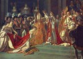 Anointing of Napoleon I and Coronation of the Empress Josephine. Napoleon stands behind Pope Pius VII - Jacques Louis David