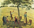 Apple harvest in Eragny - Camille Pissarro