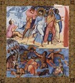Psalter, Scene passage through the Red Sea - Byzantine Unknown Master