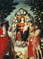 Madonna with saints, scene Mary with Child and Saints - Andrea Mantegna