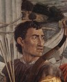 St. Sebastian, detail of head of one of the archers - Andrea Mantegna