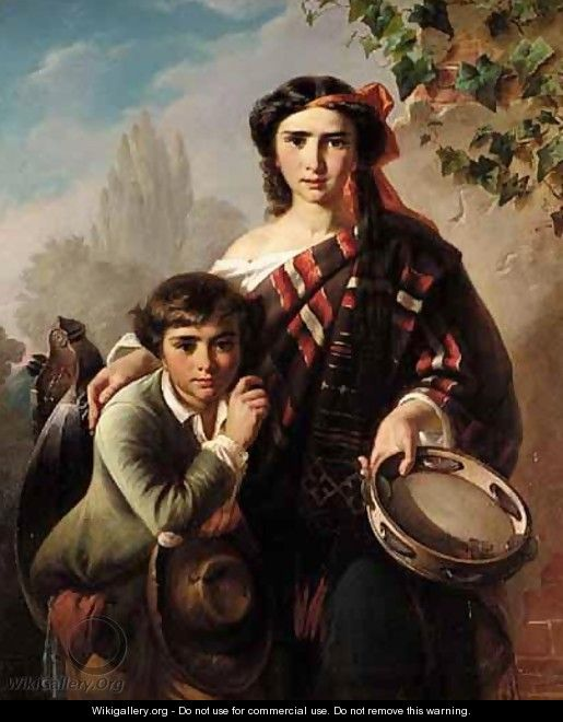 The Street Musicians - Carl Adolf Gugel