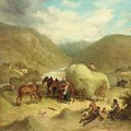 Collecting Hay - Friedrich Kaiser
