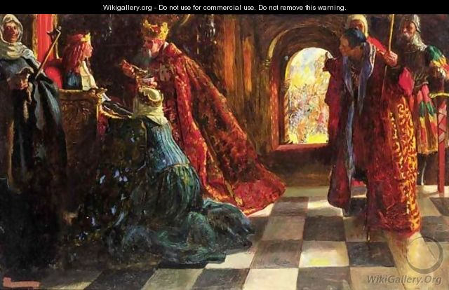 There Is An Evil Which I Have Seen Under The Sun, As An Error Which Proceedeth From The Ruler Folly Is Set In Great Dignity And The Rich Sit In Low Place Ecclesiastes Ch.Xv V.Vi - John Byam Liston Shaw