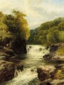 Waterfall Near Onllwyn, South Wales - John Brandon Smith