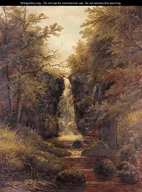 Waterfall, Bolton Woods, Yorkshire - (after) William Mellor
