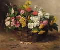 A Basket Of Flowers - Alphonse de Neuville