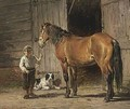 Little Boy With A Horse - Frans Lebret