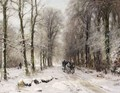 Winter On The Oude Scheveningseweg, The Hague - Louis Apol