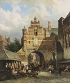 A Fishmarket In A Dutch Town - Cornelis Springer