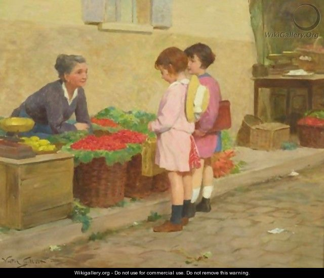 Buying Cherries - Victor-Gabriel Gilbert