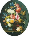 Floral Still Lifes A Pair Of Paintings - Antoine-Aglae Margry
