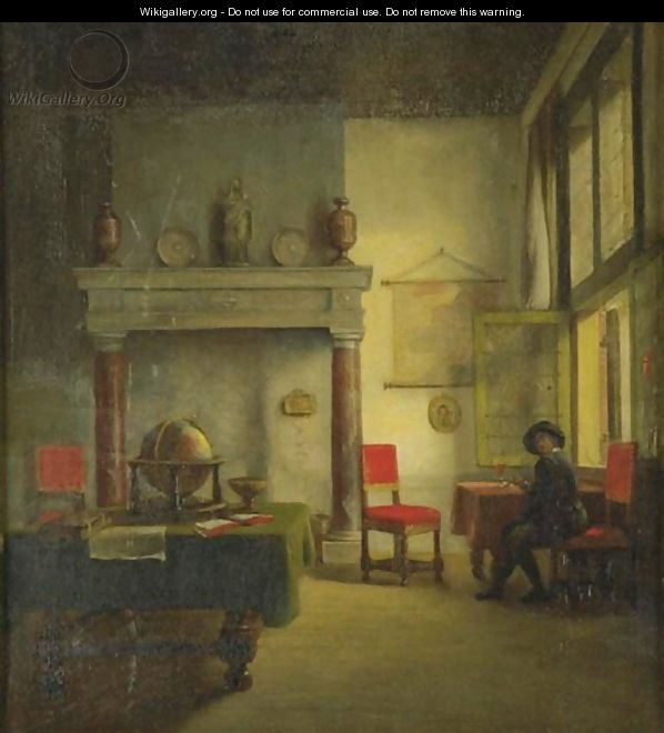 A Cavalier In An Interior - Woutherus Mol - WikiGallery.org, the ...