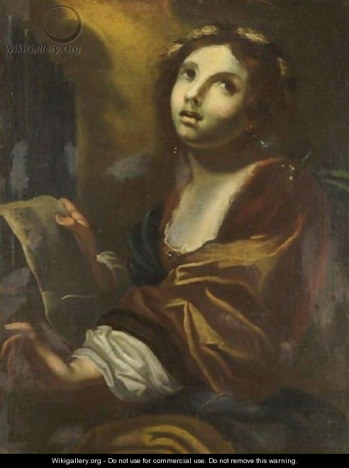 Portrait Of St. Cecilia - (after) Simone Pignoni
