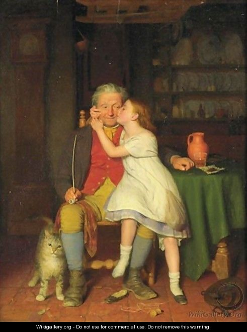 Kissing Grandpa - Edward Thompson Davis