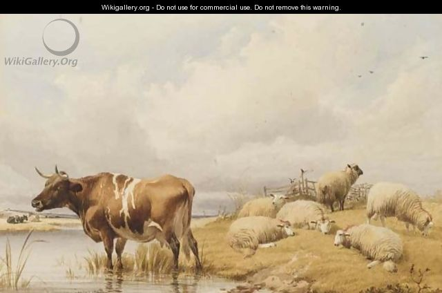 Cattle And Sheep - Thomas Sidney Cooper