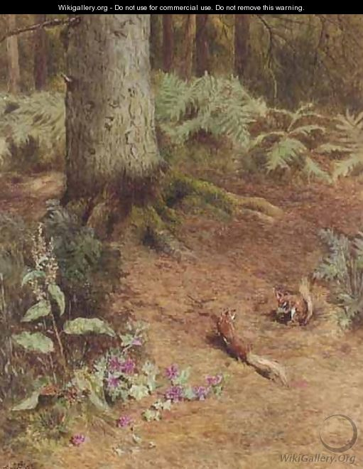 Hungry Squirrels - William Gilbert Foster
