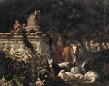 A Wooded Landscape With Piping Shepherds And Their Flocks - Abraham Jansz Begeyn