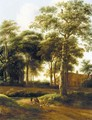 A Wooded Landscape With Drovers On A Track - (after) Pieter Jansz. Van Asch