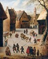 A Village Scene - (after) Jan The Elder Brueghel