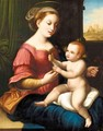 The Madonna Of The Pinks - (after) Raphael (Raffaello Sanzio of Urbino)