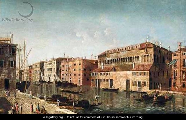 Venice, A View Of The Grand Canal With The Fondaco Dei Turchi - (after) Michele Marieschi