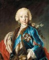 A Portrait Of Prince Franz Xavier Of Saxony (1730-1792), Half Length, Wearing A Blue Jacket And A Red Ermine-Lined Cloak - German School