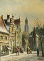 A Townscene In Winter, Utrecht - Johannes Franciscus Spohler