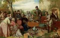 The Sale Of The Captains Goods An Auction In The Grounds Of A Country House - John Ritchie