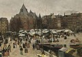Market Day At The Nieuwmarkt, Amsterdam - Geo Poggenbeek