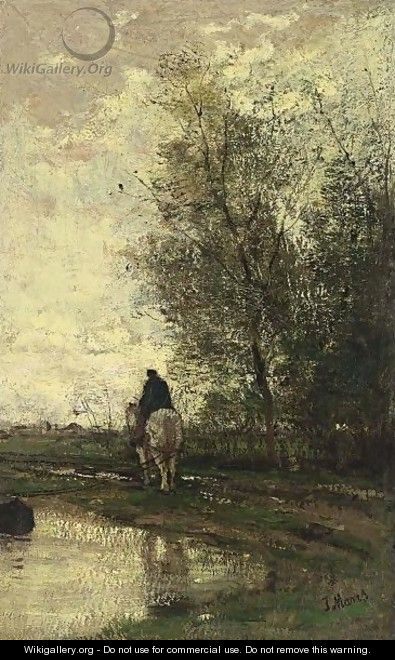 On The Tow-Path - Jacob Henricus Maris