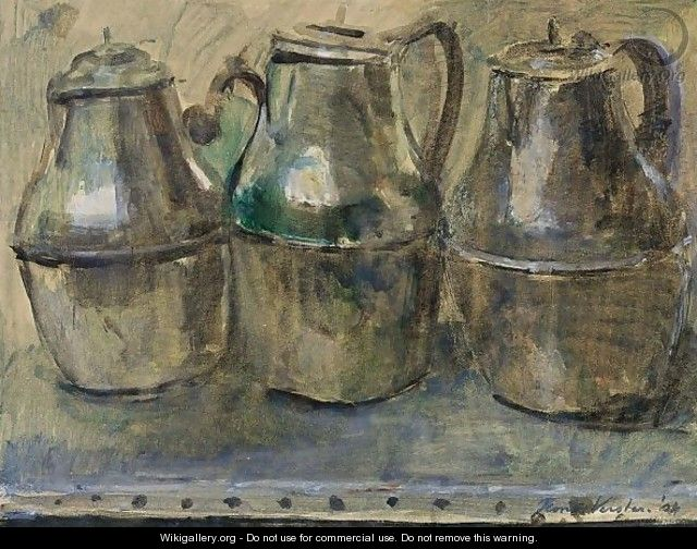 Three Tin Jugs - Floris Verster