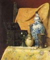 Still Life With Fan And Oriental Vase - Axel Henrik Hulle