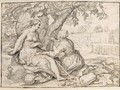 Vertumnus And Pomona - (after) Hendrick Bloemaert