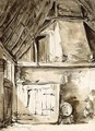 A Corner Of A Barn Interior - (after) Thomas Wijck