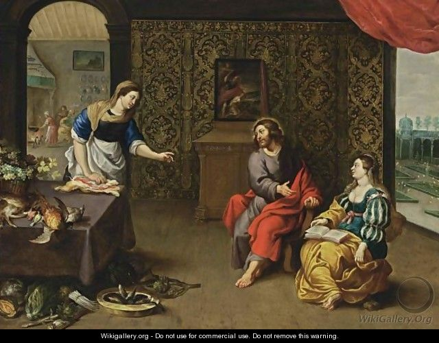 Christ In The House Of Martha And Mary - Erasmus II Quellin (Quellinus)