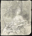 Three-Quarter Length Study Of A Young Woman As Diana - Johannes Vollevens I