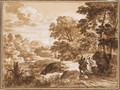 Landscape With Balaam And The Ass - Herman Van Swanevelt