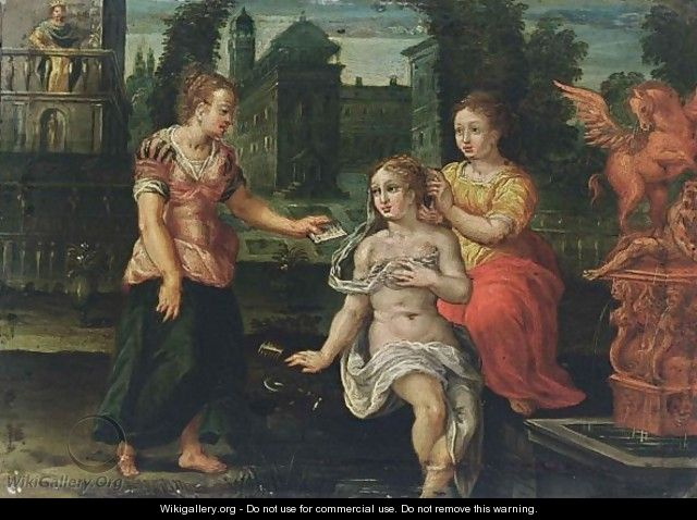 Bathsheba Receiving The Letter Of King David - Flemish School