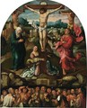 Christ On The Cross With The Virgin Mary, Saints Mary Magdalene And John The Baptist, Together With Adam And Eve(), Cain And Abel(), Abraham And Isaac, David, Aaron(), St. John The Baptist, And St. Jerome In Limbo - Netherlandish School