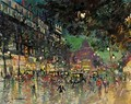 View Of The Boulevard Haussman, Paris - Konstantin Alexeievitch Korovin