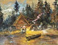 Songs Around The Campfire - Konstantin Alexeievitch Korovin