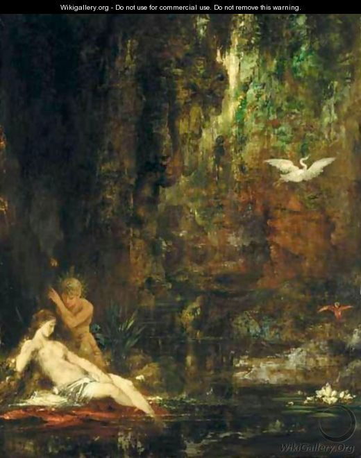La Source Surprise Par Un Satyre - Gustave Moreau