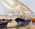 Barcas En La Playa (Boats On The Beach) - Joaquin Sorolla y Bastida