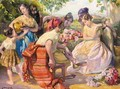 Mujeres Con Flores (Women With Flowers) - Jose Mongrell Torrent