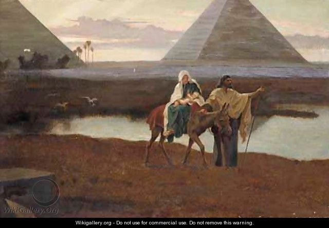 The Flight Into Egypt - Frederick Goodall