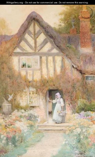 At The Cottage Steps - Arthur Claude Strachan