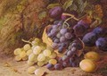 Still Life With Grapes And Plums - Vincent Clare