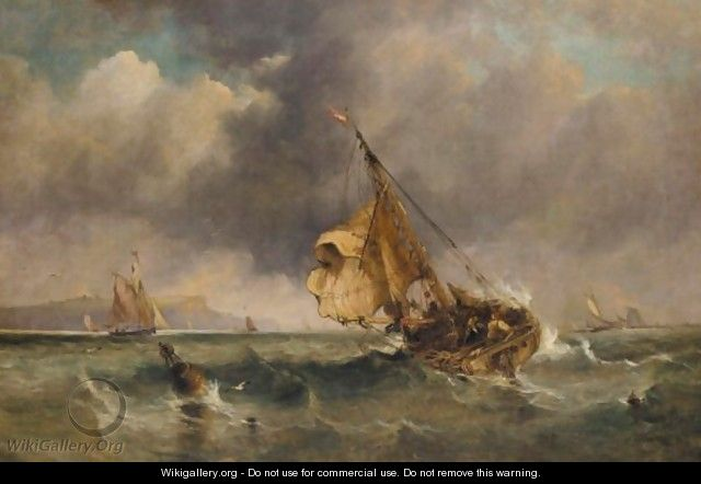 Off Dover - (after) Edward William Cooke